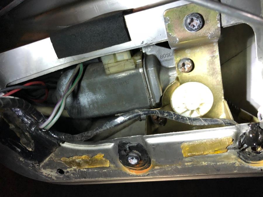 motor in door clouseup